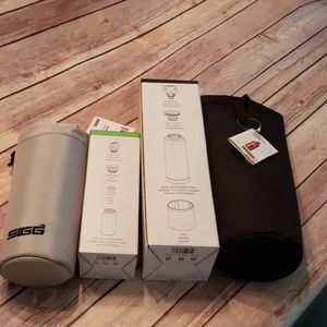 2 Sigg thermos with insulated bags new